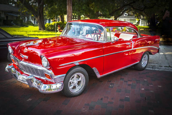 V8 Engine Photograph - 1956 Chevrolet 210 Bel Air by Rich Franco