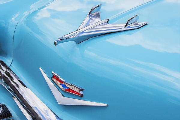 Photograph - 1956 Chevrolet Bel Air Hood Ornament by Rich Franco