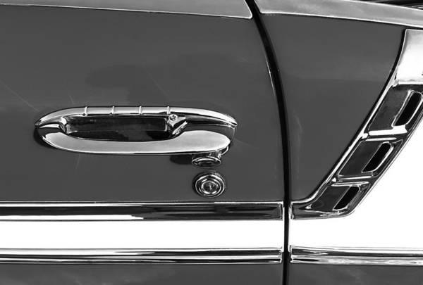 1956 Chevy Wall Art - Photograph - 1956 Chevrolet Belair Convertible Custom V8 Door Handle by Jill Reger