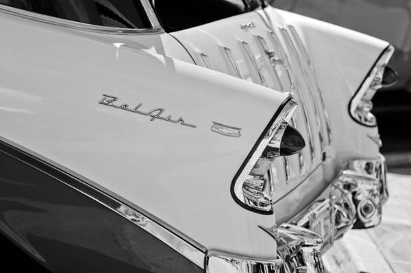 Nomad Photograph - 1956 Chevrolet Belair Nomad Rear End Taillights by Jill Reger