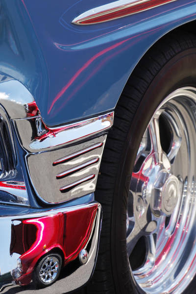 1956 Chevy Wall Art - Photograph - 1956 Chevrolet Handyman Wagon Wheel -179c by Jill Reger