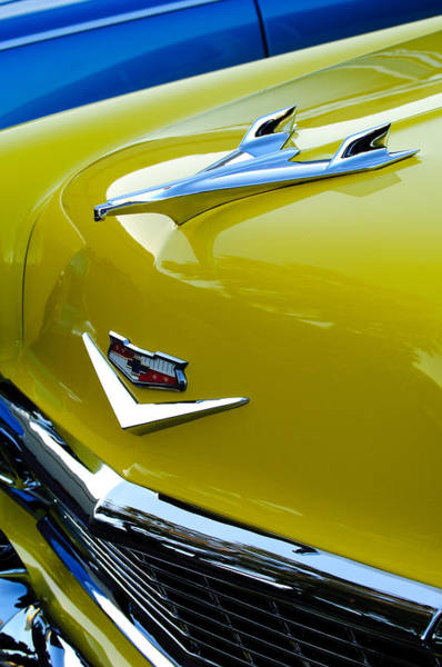Hoodies Photograph - 1956 Chevrolet Hood Ornament 3 by Jill Reger