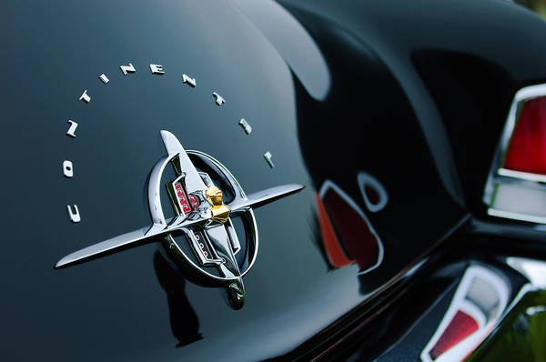 Photograph - 1956 Lincoln Continental Mark II Coupe Rear Emblem by Jill Reger