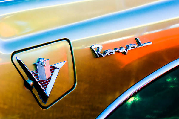 Photograph - 1956 Dodge Royal Emblem by Jill Reger