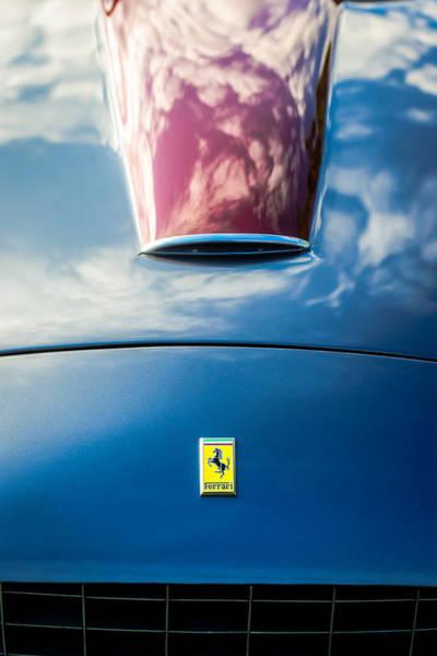 Photograph - 1956 Ferrari 250 Gt Zagato Berlinetta Hood Emblem -0364c by Jill Reger