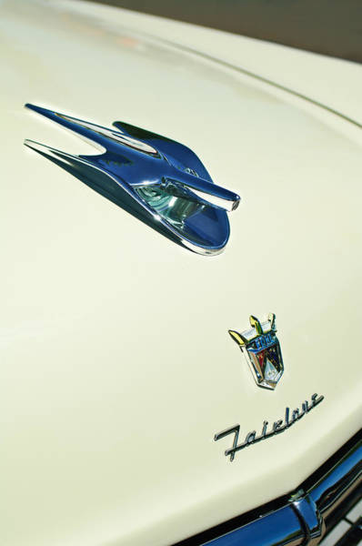 Ford Fairlane Photograph - 1956 Ford Crown Victoria Fairlane Hood Ornament - Emblem by Jill Reger