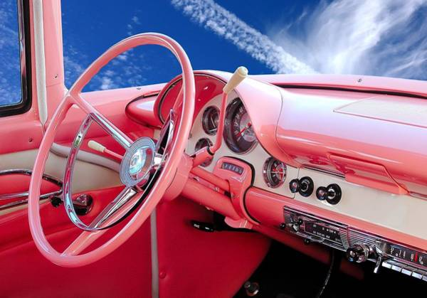Photograph - 1956 Ford Crown Victoria Interior by Jim Hughes