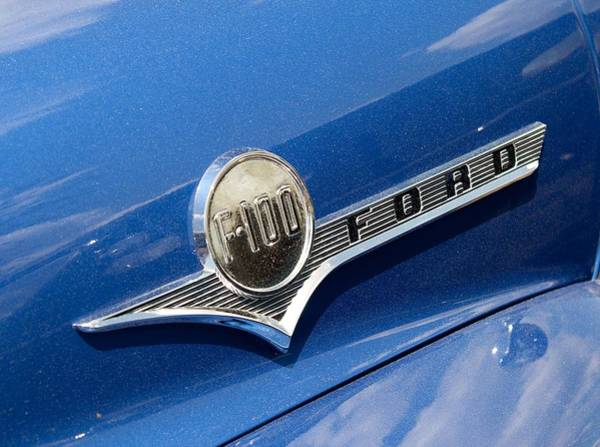 Photograph - 1956 Ford F-100 Truck Emblem by Kristia Adams