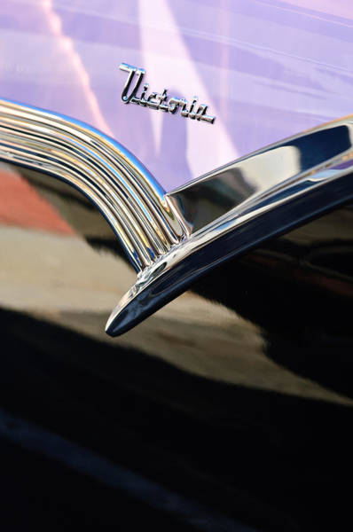 Ford Fairlane Photograph - 1956 Ford Fairlane Victoria Emblem by Jill Reger