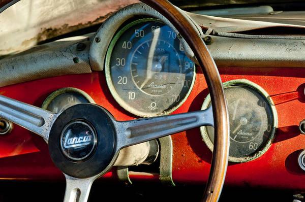 Photograph - 1956 Lancia Aurelia B24s Spider America Steering Wheel by Jill Reger