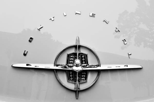 Photograph - 1956 Lincoln Continental Rear Emblem by Jill Reger