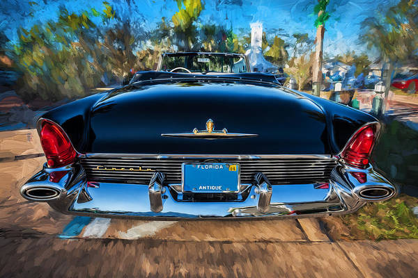 Wall Art - Photograph - 1956 Lincoln Premiere Convertible Painted    by Rich Franco