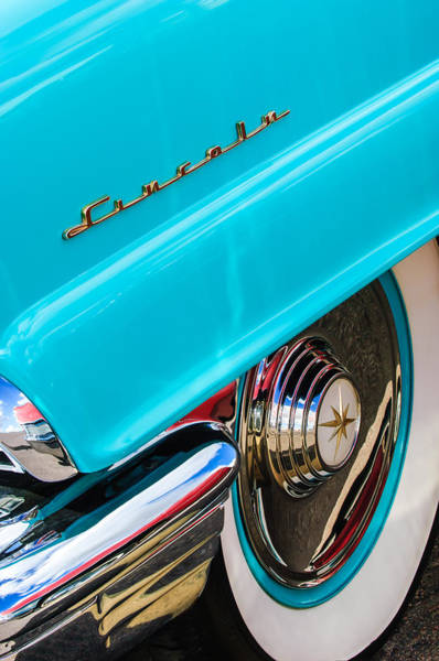 Photograph - 1956 Lincoln Premiere Rear Emblem  - Wheel -0828c by Jill Reger