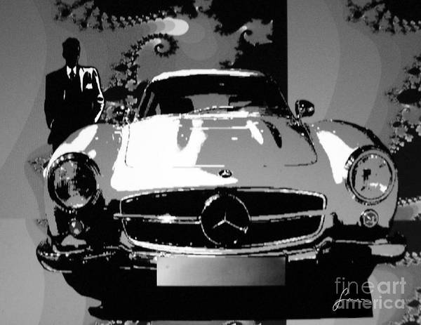 Painting - 1956 Mercedes Benz 300 Sl Gullwing by Sinisa Saratlic