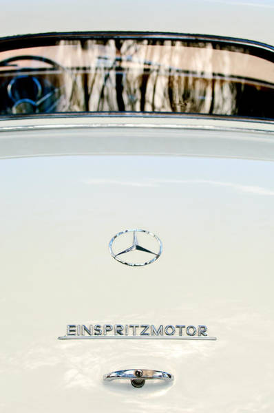Wall Art - Photograph - 1956  Mercedes-benz Einspritzmotor Rear Emblem by Jill Reger