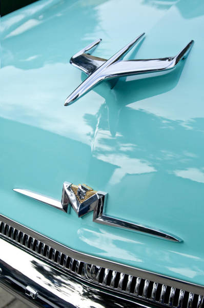 Monterey Photograph - 1956 Mercury Monterey Hood Ornament by Jill Reger