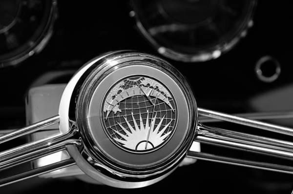 Photograph - 1956 Rometsch Beeskow Sports Cabriolet Volkswagen Vw Steering Wheel by Jill Reger
