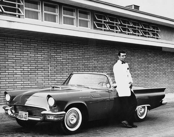 1956 Ford Thunderbird Photograph - 1956 Thunderbird Convertible by Underwood Archives