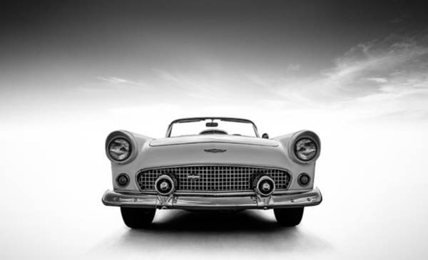 Roadster Wall Art - Digital Art - 1956 Thunderbird by Douglas Pittman