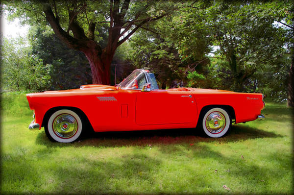 1956 Ford Thunderbird Photograph - 1956 Thunderbird - Red by Bill Cannon
