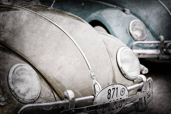 Vw Bug Photograph - 1956 Volkswagen Vw Bugs  by Jill Reger