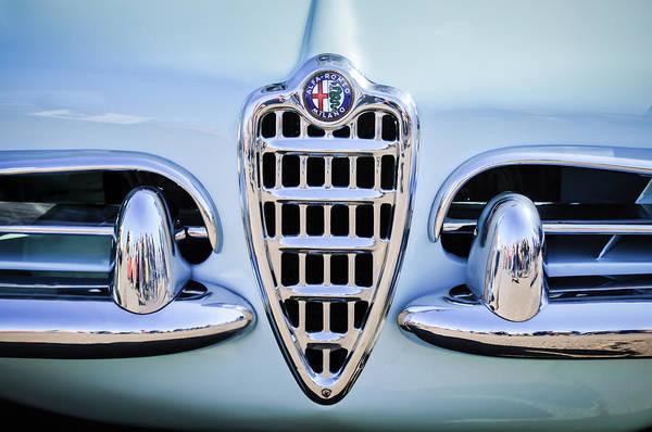 Photograph - 1957 Alfa Romeo Spider Grille Emblem -0784c by Jill Reger