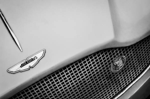 Photograph - 1957 Aston Martin 2-4 Mk IIi Prototype Lgw Emblem -0030bw by Jill Reger