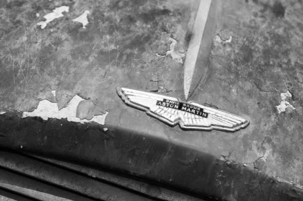 Photograph - 1957 Aston Martin Db2-4 Mk II Hood Emblem by Jill Reger