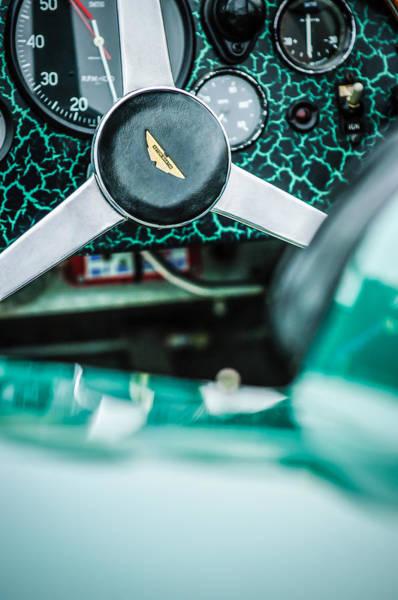 Photograph - 1957 Aston Martin Dbr2 Steering Wheel Emblem -2345c by Jill Reger