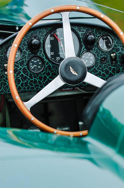 Photograph - 1957 Aston Martin Dbr2 Steering Wheel by Jill Reger