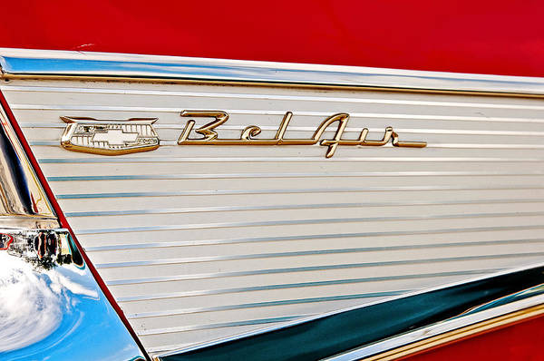 Photograph - 1957 Bel Air Tailfin by Andy Crawford