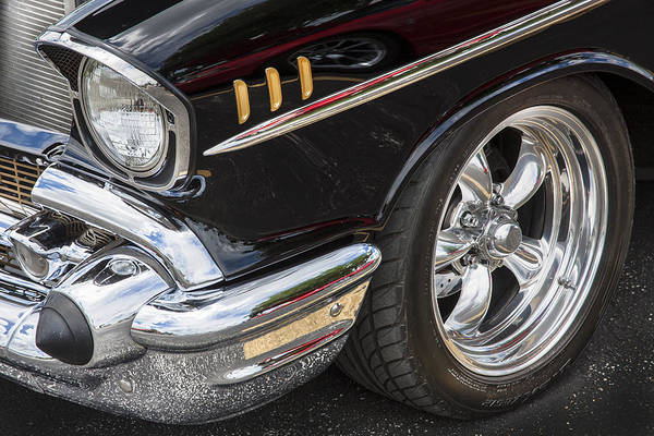 V8 Engine Photograph - 1957 Chevrolet Bel Air Beauty by Rich Franco