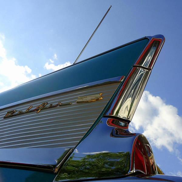 Joseph Photograph - 1957 Chevrolet Bel Air Fin by Joseph Skompski