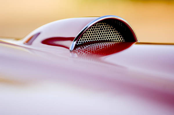 Wall Art - Photograph - 1957 Chevrolet Corvette Convertible Scoop by Jill Reger