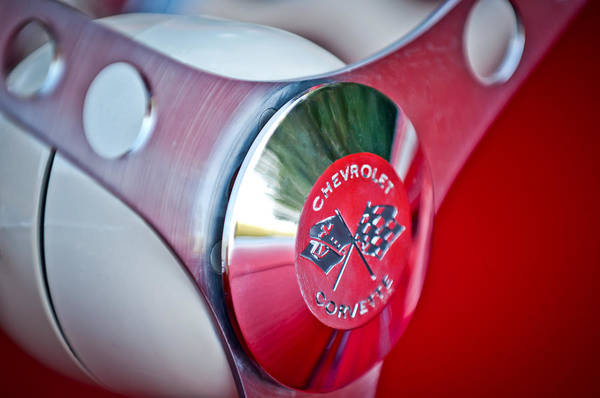 Photograph - 1957 Chevrolet Corvette Steering Wheel -294c by Jill Reger