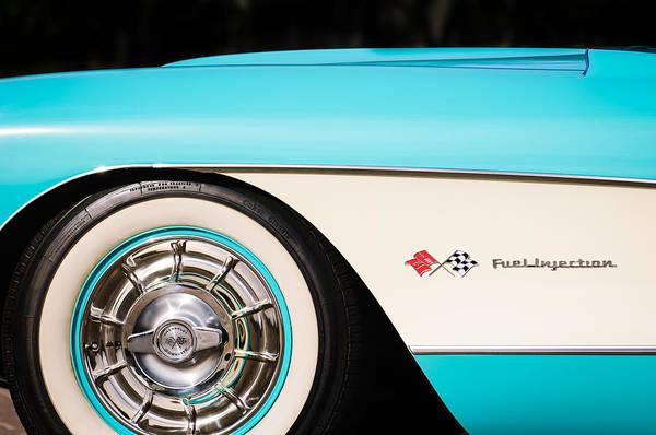 Photograph - 1957 Chevrolet Corvette Wheel Emblem by Jill Reger