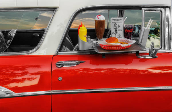Milk Shake Photograph - 1957 Chevrolet Nomad - Lunch Time by Frank J Benz