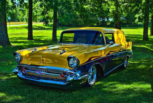 Photograph - 1957 Chevrolet Panel Van by Tim McCullough
