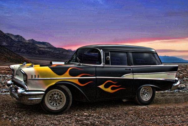 Photograph - 1957 Chevrolet Shorty Wagon by Tim McCullough