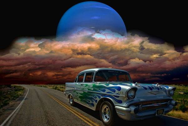 Street Rods Photograph - 1957 Chevrolet Street Rod by Tim McCullough