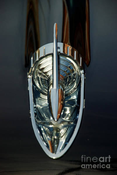 Photograph - 1957 Chevy 4 Door Hood Ornament  by Mark Dodd