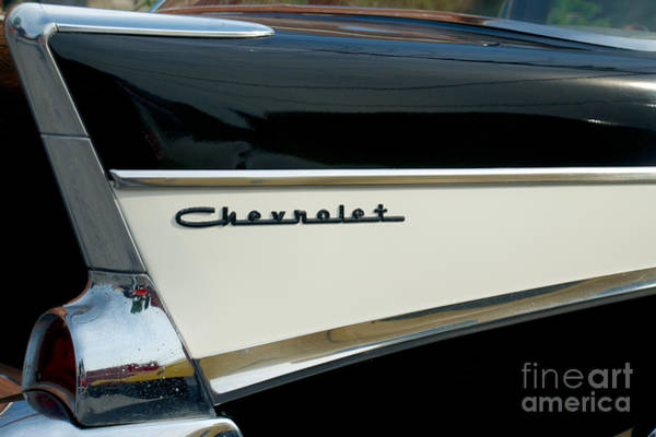 Photograph - 1957 Chevy 4 Door by Mark Dodd
