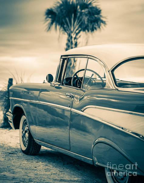 Photograph - 1957 Chevy Bel Air Standard 11x14 by Edward Fielding