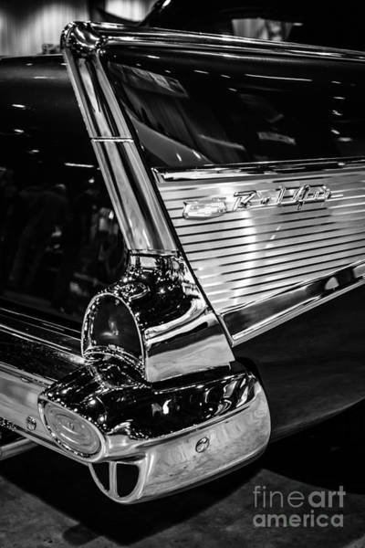 1957 Chevrolet Photograph - 1957 Chevy Bel Air Tail Fin by Paul Velgos