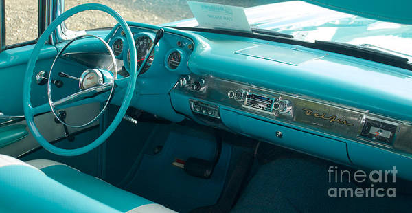Photograph - 1957 Chevy Convertible Dash by Mark Dodd