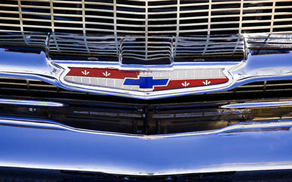 Photograph - 1957 Chevy Emblem by Rich Franco