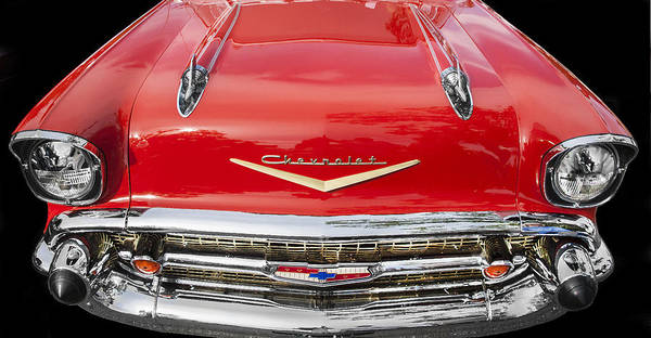 Photograph - 1957 Chevy Front End by Rich Franco