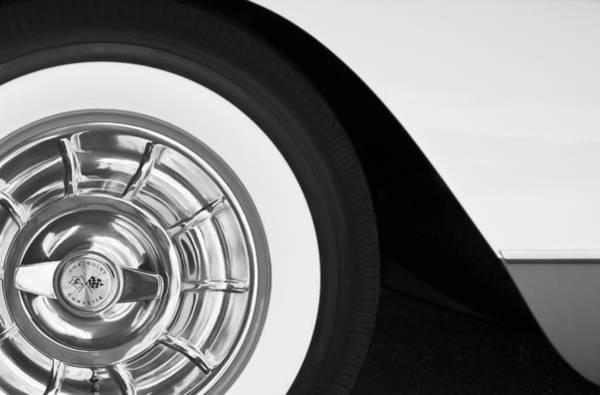 Car Part Photograph - 1957 Corvette Wheel by Jill Reger