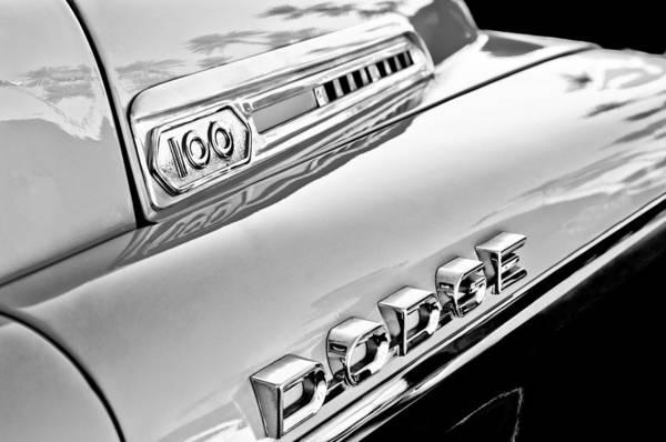 Photograph - 1957 Dodge Sweptside 100 Pickup Truck by Jill Reger