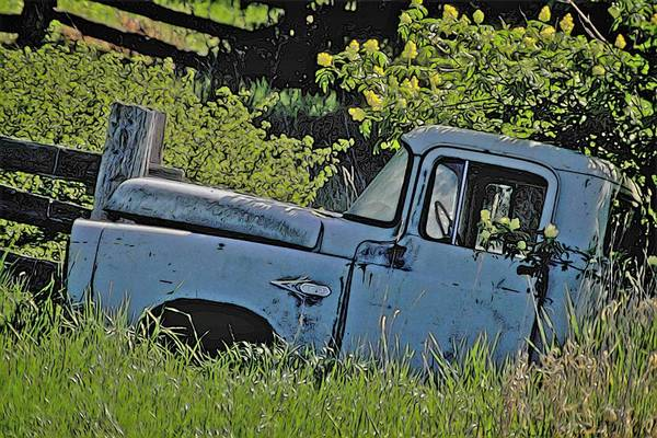 Scrap Iron Digital Art - 1957 Dodge Truck by Richard Farrington